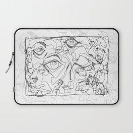 All Eyes on Me - b&w Laptop Sleeve