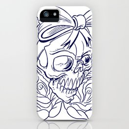 Halloween Skull Tattoo iPhone Case