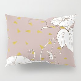 Morning Glory in Gold Pillow Sham