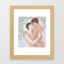 Steamy Ereri Framed Art Print