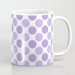 Modern trendy lavender lilac hipster polka dots Coffee Mug