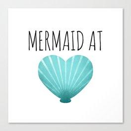 Mermaid At Heart  |  Teal Canvas Print