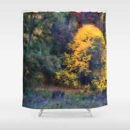Golden Tree Shower Curtain
