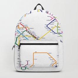 World Metro Subway Map Backpack