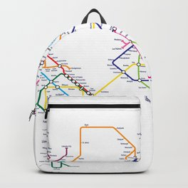World Metro Subway Map Backpack