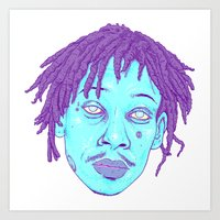 wiz khalifa Art Prints featuring WIZ by Mitch Meseke