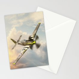 P-51 Mustang World War II Fighter Plane Stationery Cards