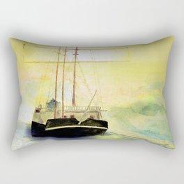 a ship at sea Rectangular Pillow