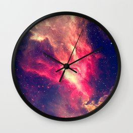The Sky is on Fire Wall Clock