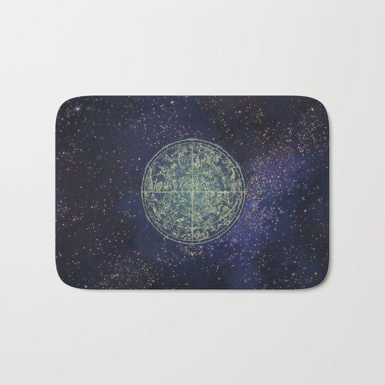 Ancient zodiac Bath Mat