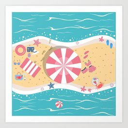 Happy Summer Vacation Art Print