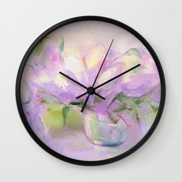 """""""Summer Bouquet"""" oil painting by Diana Grigoryeva Wall Clock"""