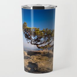 Crooked Tree in Elbe Sandstone Mountains Travel Mug