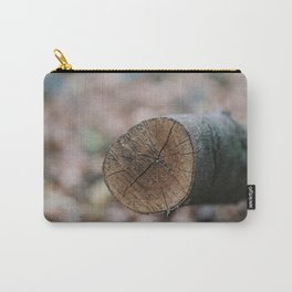Closeup of a cut tree trunk Carry-All Pouch