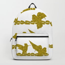 Gold Hummingbirds on Line Chatting Backpack
