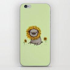 Pugflower iPhone & iPod Skin