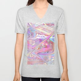 holographic Unisex V-Neck