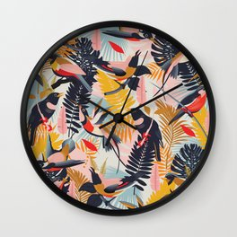 Paradise Birds II. Wall Clock