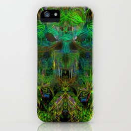 Seaweed Ghost Breath (abstract, psychedelic, scary) iPhone Case