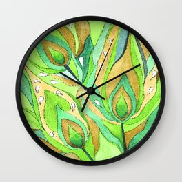 Mosaic . A feather of the Zhar bird . Wall Clock