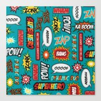 sayings Canvas Prints featuring super heros sayings by  Alexia Miles photography