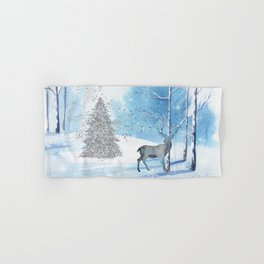 Christmas Wonderland Stag Scene Hand & Bath Towel