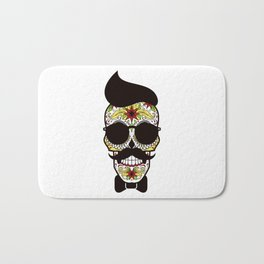 Mr. Sugar Skull Bath Mat