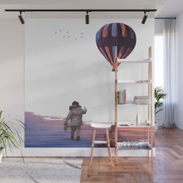 Girl with a Balloon Wall Mural