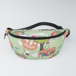 Sloth pattern Fanny Pack
