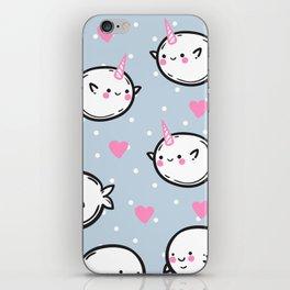Cute narwhals. iPhone Skin