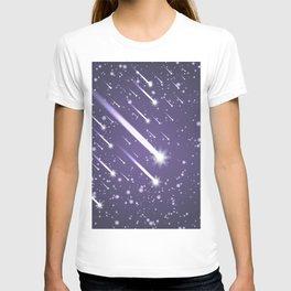 Flying meteors. Ultra violet. T-shirt