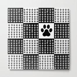 Footprint dog Metal Print