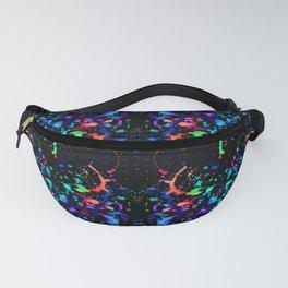 Night Splatter Neon Lights Fanny Pack