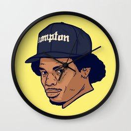 Dead Hip Hop Icons Series: Eric Wright Wall Clock