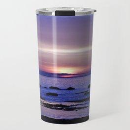 Purple Sunset on the Sea Travel Mug
