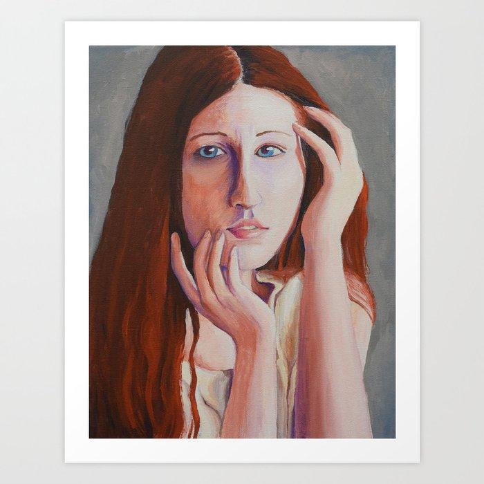Red Haired Girl Art Print
