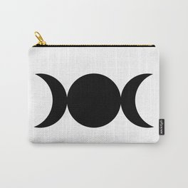 Triple Goddess Symbol - Black on White Carry-All Pouch