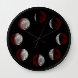 Cycles of Moon { phases of the moon } Wall Clock