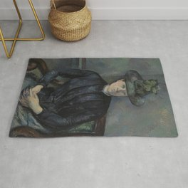 Madame Cézanne with Green Hat Rug