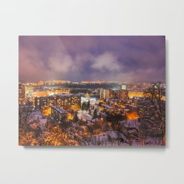 Night scenery with colorful clouds Metal Print