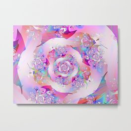 First Rose Abstract Fractal Art Metal Print