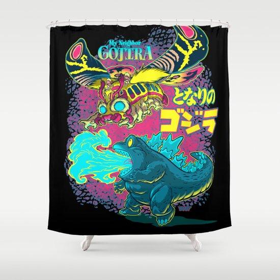 MY NEIGHBOR GOJIRA Shower Curtain