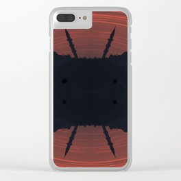 Abstract mosque silhouette Clear iPhone Case