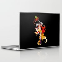 actor Laptop & iPad Skins featuring Cracked Actor (black) by Ashleigh Hungerford