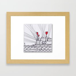 The Heart Factory v1 Framed Art Print