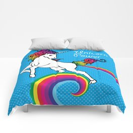 Unicorn Power with Rainbow Comforters