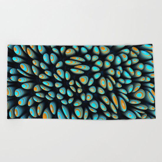 Blue Bloobly Beach Towel