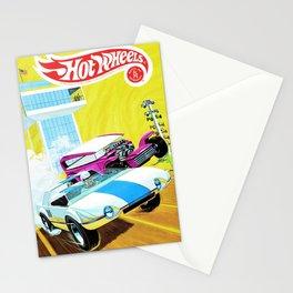 Vintage Redline Era Hot Wheels Demon and Jack Rabbit Special Grand Prix Drag Racing Vintage Poster Stationery Cards