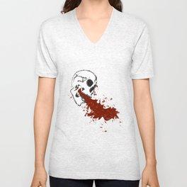 Skully Vomit Unisex V-Neck