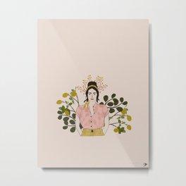 Girl with Lemons Metal Print
